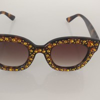 Gucci Cat eye acetate sunglasses with stars 2018