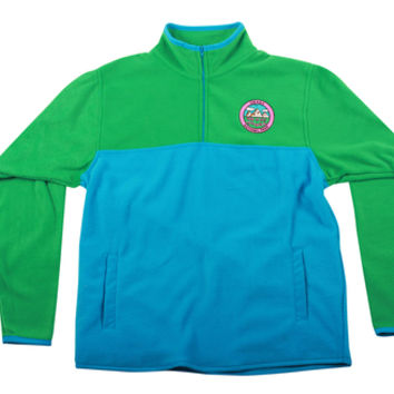 OKAGA POLAR FLEECE PULLOVER BLUE/GREEN