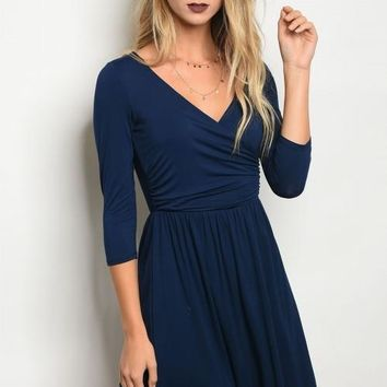 Navy Night Dress
