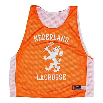 Netherlands Holland Lion Reversible Lacrosse Pinnie