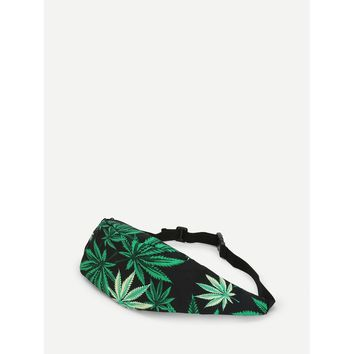 Multicolor Marijuana Weed Bum Bag