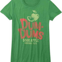 Dum Dums Candy Sour Apple Juniors T-Shirt