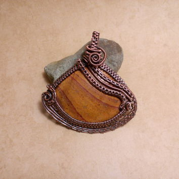"""Wire Wrapped OOAK """"Shifting Sands"""" Picture 