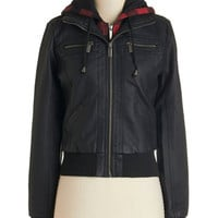 ModCloth Short Length Long Sleeve Top-Down Trip Jacket
