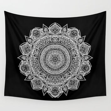 Black And White Mandala Wall Tapestry Yoga Meditation Mandala Wall Hanging
