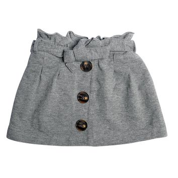 Quinn Paperbag Skirt Grey