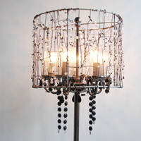 Gunmetal Faux Crystals Upcycled Table Lamps Black by yevgenia