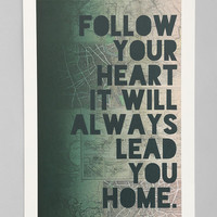 Urban Outfitters - Leah Flores Follow Your Heart Art Print