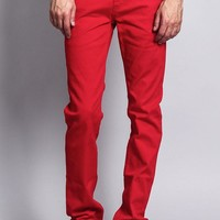 Men's Skinny Fit Colored Jeans DL937 (Red)