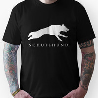 German Shepherd Sport Dog / Schutzhund / White Unisex T-Shirt