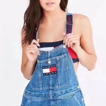 ''Tommy'' Jeans x Urban Outfitters Fashion Romper Jumpsuit Pants