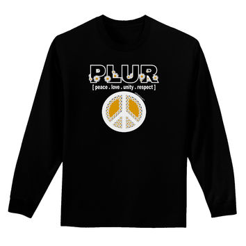 PLUR Daisies Adult Long Sleeve Dark T-Shirt