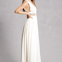 Soieblu Crepe Cutout Gown