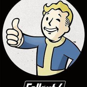 """Fallout 4 Vault Boy Thumbs Up Wall Poster Picture Art Print 22""""x34"""" LICENSED"""