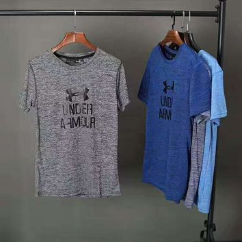 """ Under Armour""Fashion Print Casual Short Sleeve Shirt Top Tee Blouse G-A-XYCL"