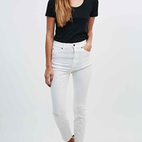 Dr. Denim Cropa Cabana Jeans in White - Urban Outfitters