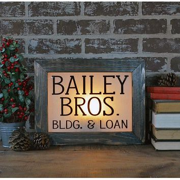 Bailey Brothers | Vintage Lighted Box Sign | 14-in