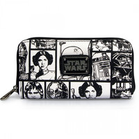 """Star Wars Comic Print"" Wallet by Loungefly (Black/White)"