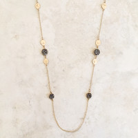 Druzy Station Necklace in Gold