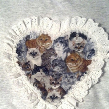 Cat Sweater with Lace