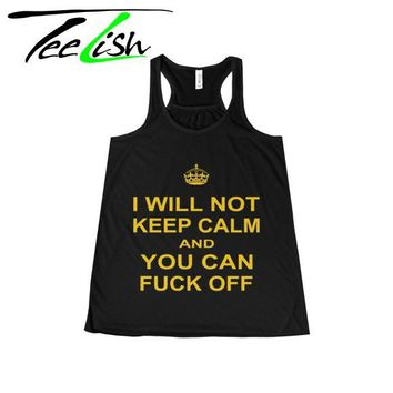 custom shirts Keep Calm Tank Top for Women