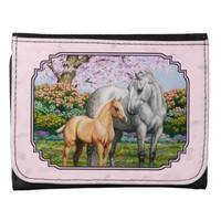 Quarter Hores Mare and Foal Pink Wallet