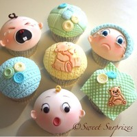 Cute Baby Shower Cupcakes | Devoted to Cupcakes