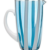 Gessato Pitcher | Aquamarine