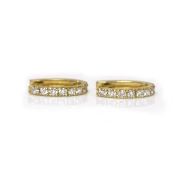 14kt Gold Diamond Hug-me Hoops