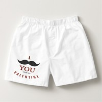 Valentine Mustache Gifts Boxers