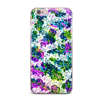 "Ebi Emporium ""Prismatic Posy III"" Purple Green iPhone Case"