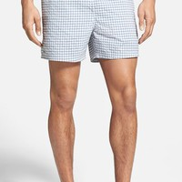 Men's Lacoste Taffeta Gingham Swim Trunks,