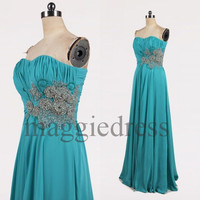Custom Beaded Long Prom Dresses Bridesmaid Dresses 2014 Evening Gowns Formal Party Dress Formal Wear Cocktail Dresess Formal Wear