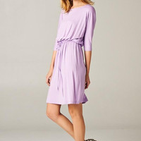Lavender Boyfriend Midi Dress