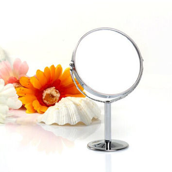 Makeup Cosmetic Mirror & Double-Sided Normal and Magnifying Stand Mirror