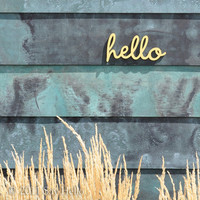 Little Hello Wall Sign
