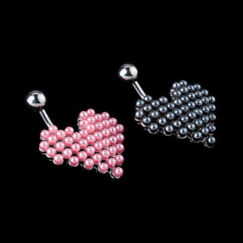 New Charming Dangle Crystal Navel Belly Ring Bling Barbell Button Ring Piercing Body Jewelry = 4804937348