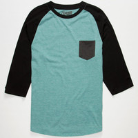 Retrofit Tri Block Mens Baseball Tee Black  In Sizes