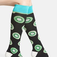 Women's Arthur George by R. Kardashian Kiwi Print Knee High Socks