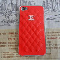 Blue chanel iphone 4 ,4S hard Case cover for iPhone 4 Case, iPhone 4S Case,iPhone 4 GS case ,iPhone hand  case cover  -232