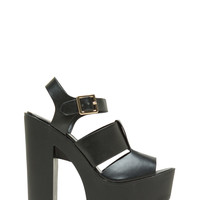 Lay It On Thick Strappy Chunky Heels