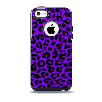 Vibrant Violet Leopard Print Skin for the iPhone 5c OtterBox Commuter Case