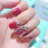 DCCK T022 Tiffany Co Bow Necklace