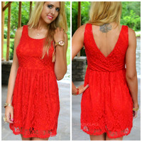 Crews Hill Red Lace Dress