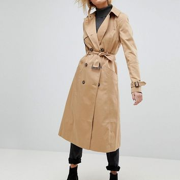 ASOS Longline Classic Trench Coat at asos.com