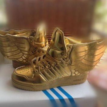DCCKIG3 adidas Jeremy Scott wings 2.0 gold Men Women Sneaker