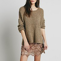 Free People Womens Scallop Embellished Mini