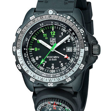 Luminox Recon Navy SPC Mens Metric Strap Watch with Compass - Black Dial