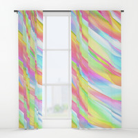 Floating Colors Window Curtains by kasseggs