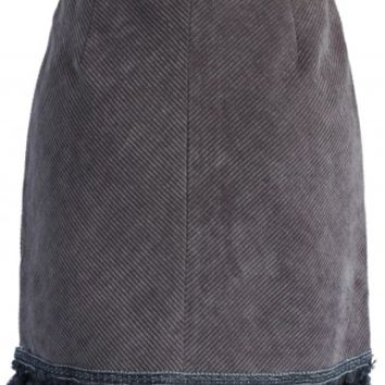 Velvet Bud Skirt with Tassel in Grey - Retro, Indie and Unique Fashion